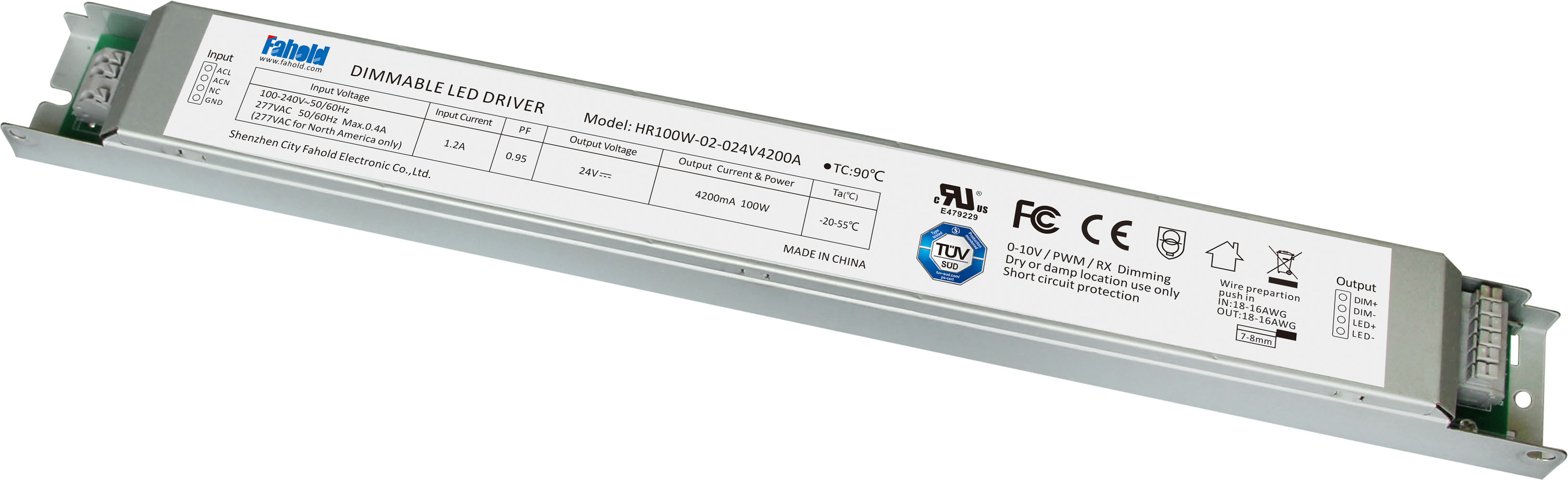 Constant Voltage 100w Led Drivers For Linear Lights Ul Tuv Emergency Ballast With Low Dimmer Wiring Certified