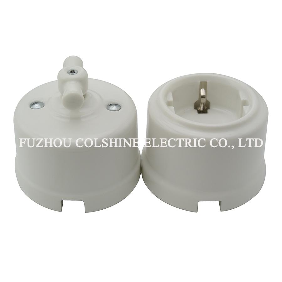 Ceramic wall rotary switch