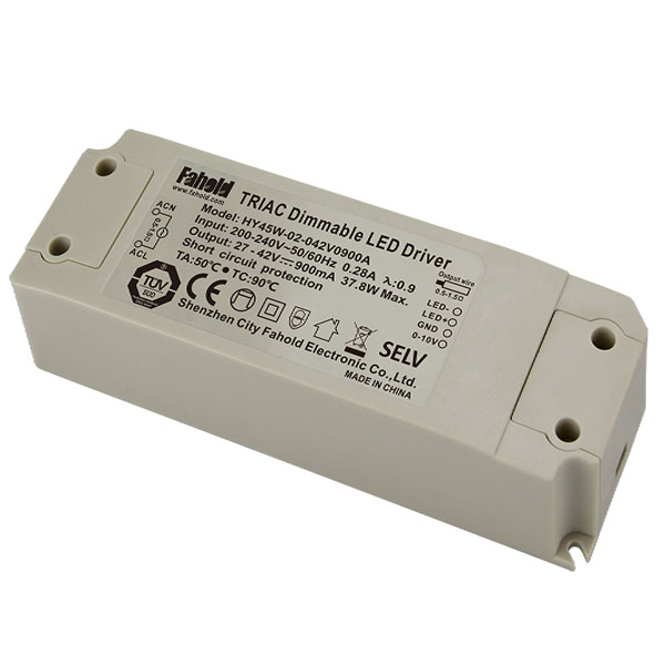 No Flicker 45W Triac Dimming LED Drivers UL TUV SAA CE Certified