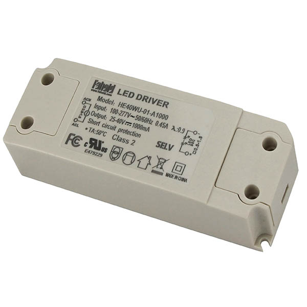 40W Series LED Drivers UL Certified