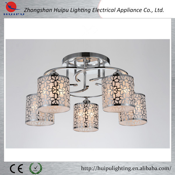 Top selling big chrome ceiling light hotel lighting