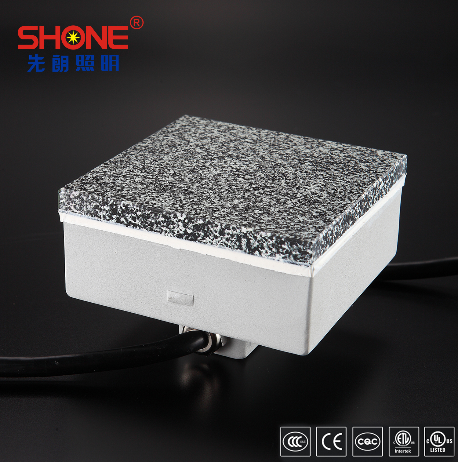 Shone Lighting Original Design Marbling LED Brick LED Tile Light IP68 for Outdoor Lighting