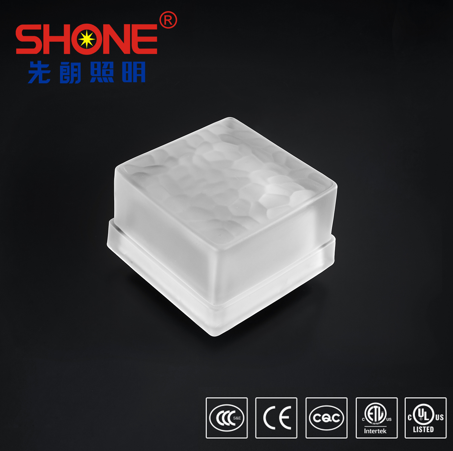 Shone Lighting Original Design Crystal LED Brick Glass Tile Light IP67 for Outdoor Lighting