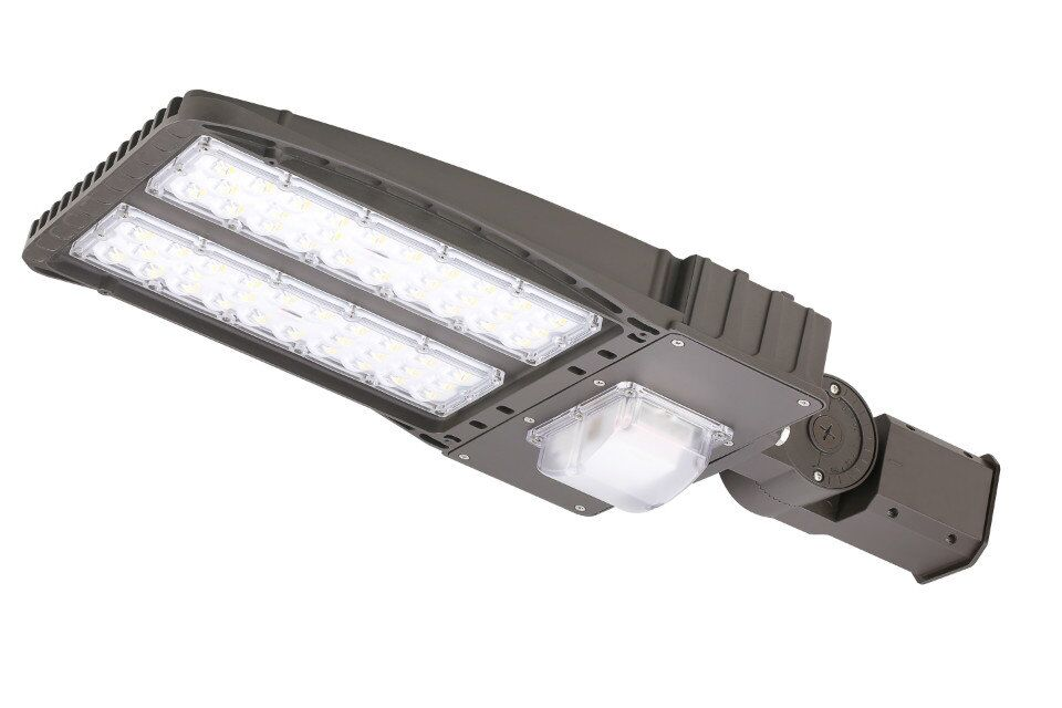 200W LED Parking Lot Light for Round Pole in Street 22000lm Shoebox lighting for Path Garden