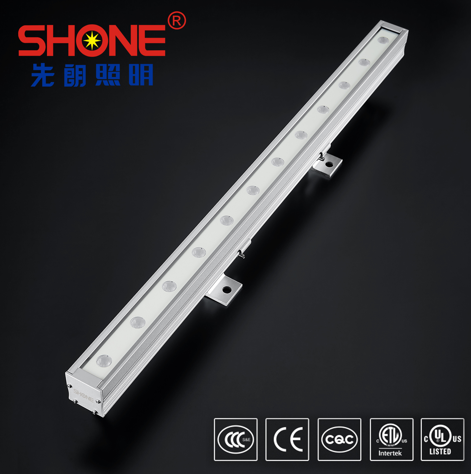 Shone Lighting 30x30 LED Linear Light Wall Washer with CE ETL Certificate IP66 for Outdoor Lightin