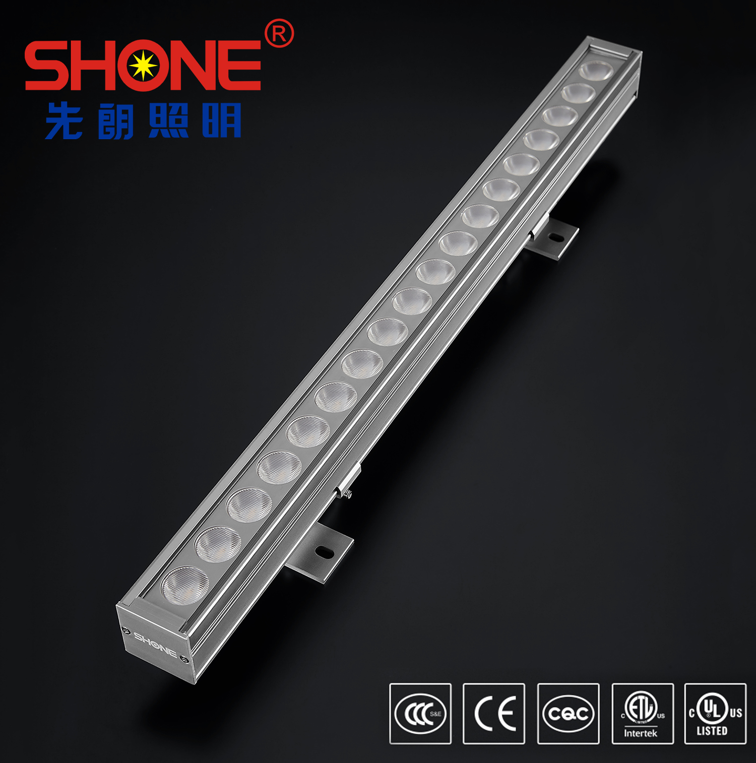 Shone Lighting 38x36 LED Linear Light Wall Washer with CE ETL Certificate IP66 for Outdoor Lighting