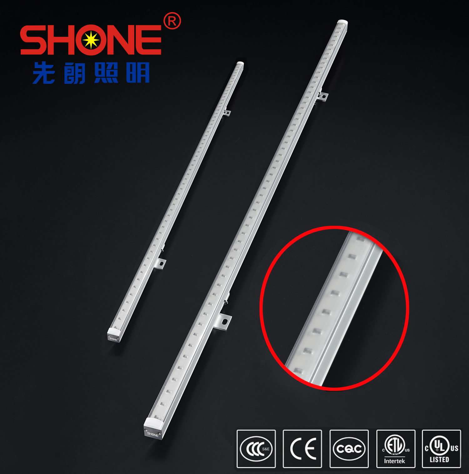 Shone Lighting 20x30 LED Linear Light Wall Washer with CE ETL ROHS IP66 for Architechture Lighting