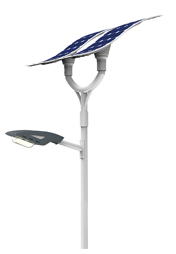 60W LED solar street light with flexible solar panels