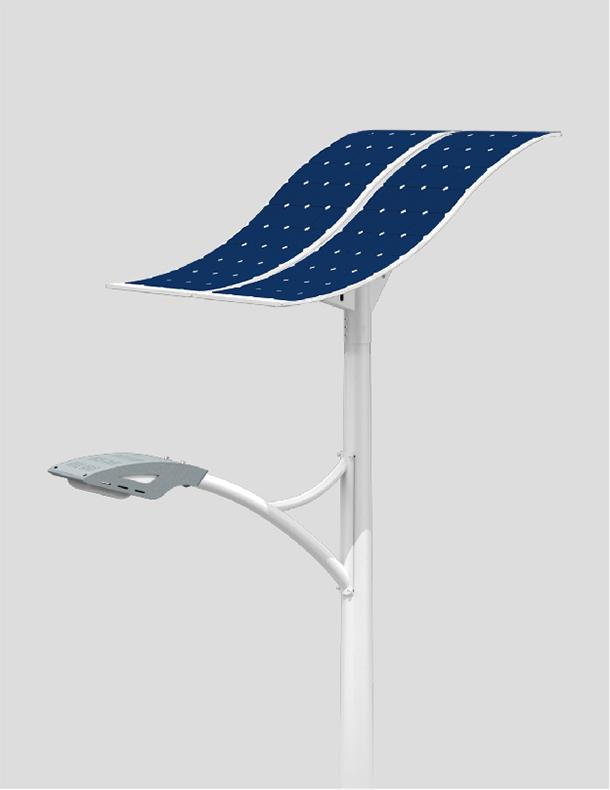 80W LED solar street light with flexible solar panel SUNPOWER solar cells