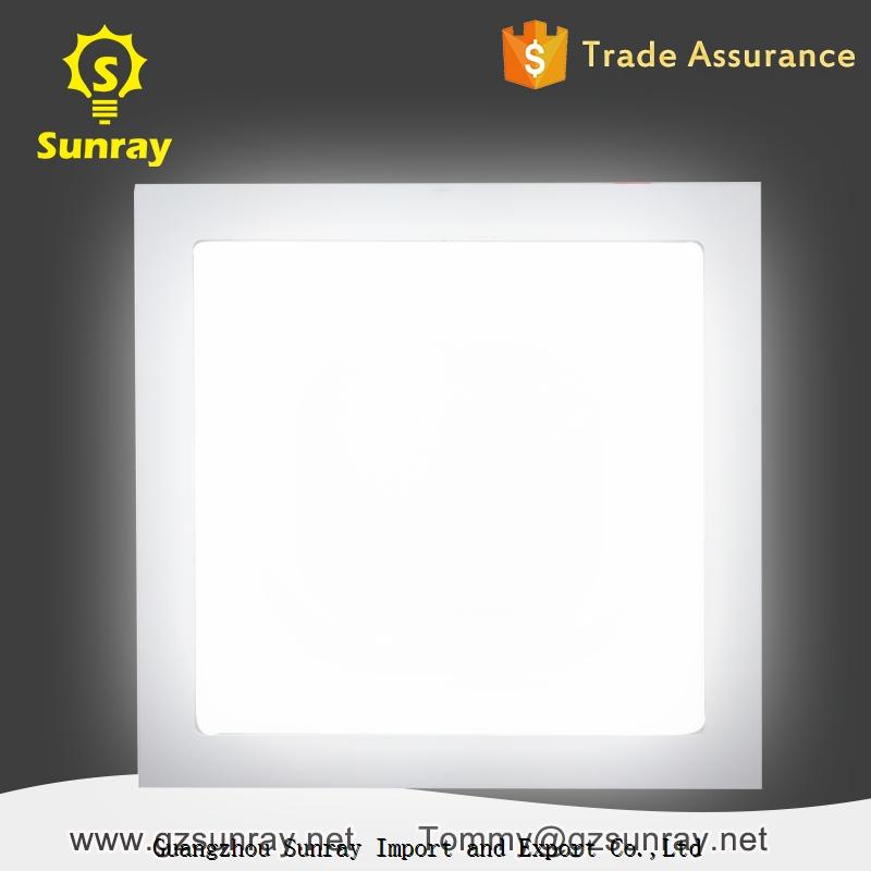 Zhongshan factory standard sizes 3 watt 6 watt 9 watt 12 watt 18 watt 24 watt square led panel light