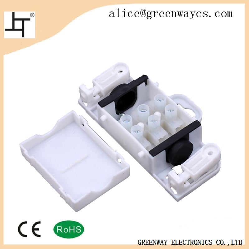 White IP54 electric waterproof connector junction box from greenway