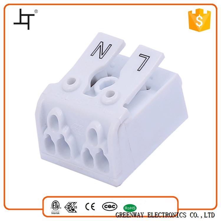 863-2 Push wire Terminal Blocks 2 Pole-White