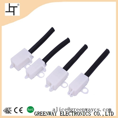 10A white lighting mini junction box with PVC tube