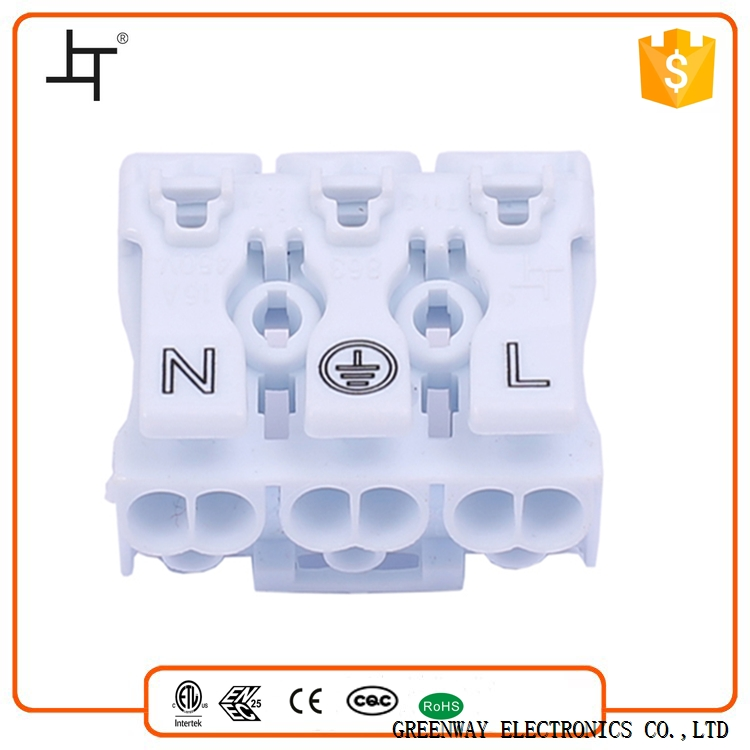 Greenway 3 Poles plastic square tube connector For Junction Box 863-3
