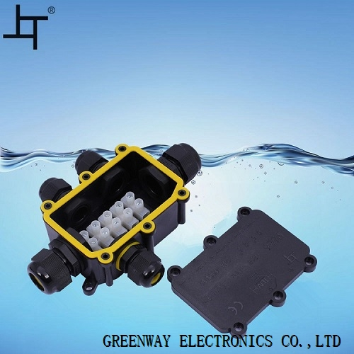ip68 5 wire underground electrical junction boxes IP68 waterproof junction box black