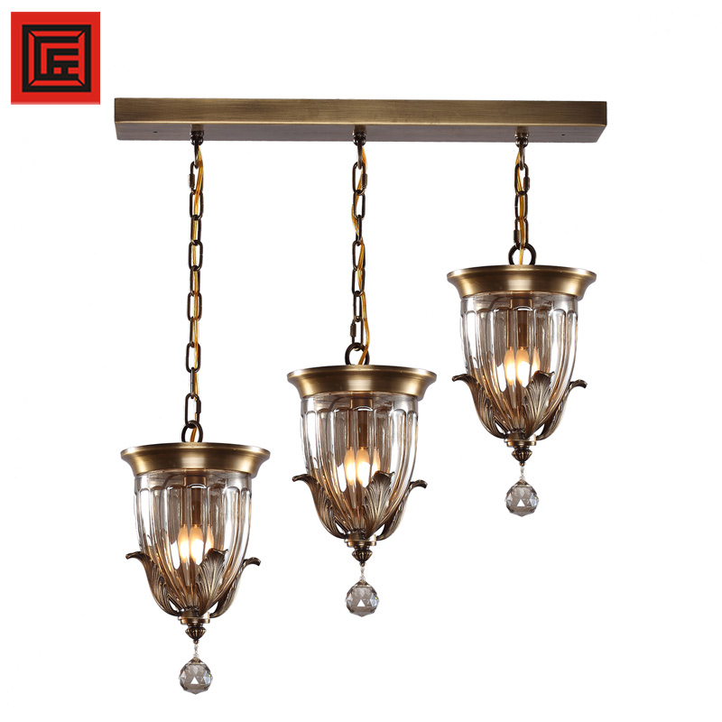 Modern contemporary antique brass copper chandelier pendant lights
