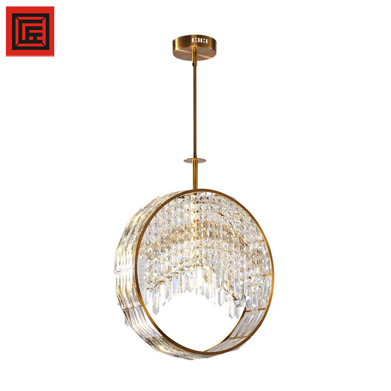 New coming modern brand Champagne hanging K9 crystal chandelier
