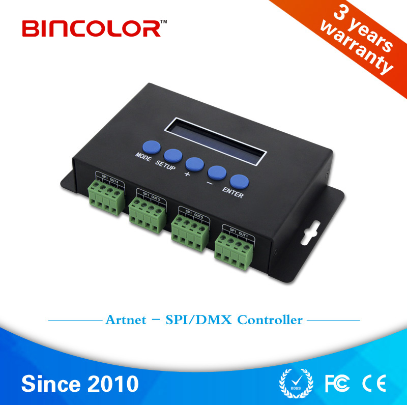 Madrix computer control artnet to SPI rgb led controller for 6803 ws2812b IC chips pixel light