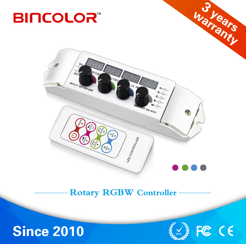 24V 5A 4 Channel Constant Voltage LED RGBW Controllerl
