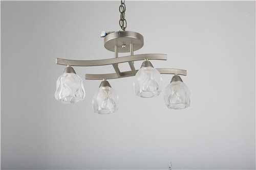 Hot production lamparas in Spain market with crystal lampshade with ceiling lamp