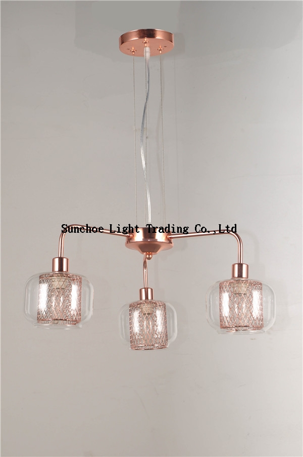 Hot sale prodution 2017pendant lamp in european market with glass shade