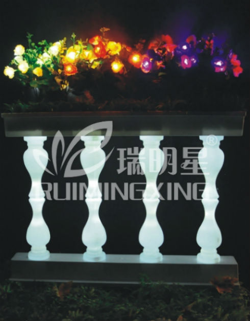 led colorful rose with leaves decorative from china