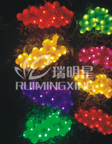 Led decorative grape light colorful for tree ip44