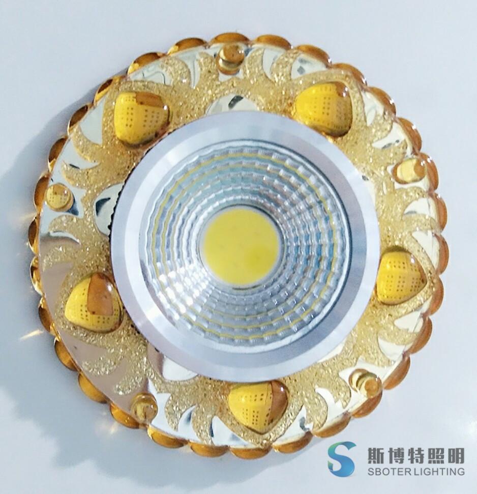 side emitting COB spot lamp resin crystal led ceiling light