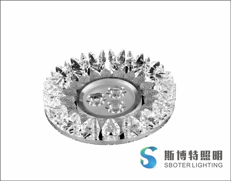 3W Led Downlights Recessed Crystal Ceiling Spot Light Lamps Embedded LED Downlights Home Decoration