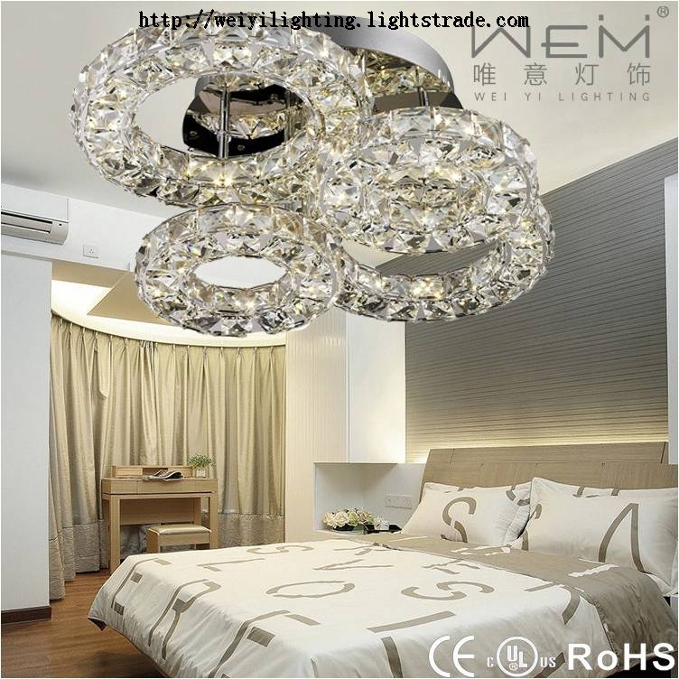 UL Alibaba China Supplier Home Decoration Crystal Ceiling Lights