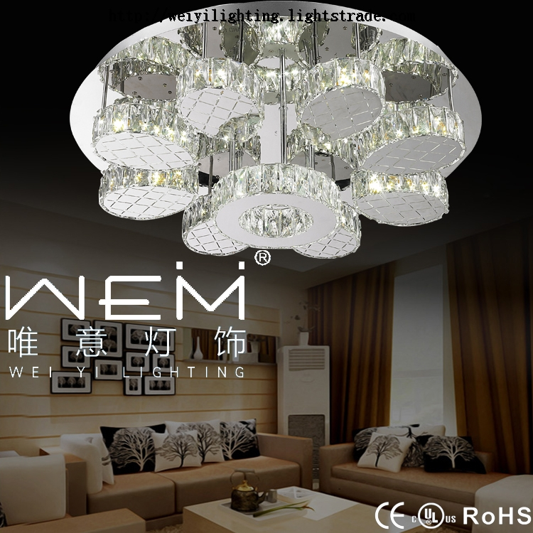 2017 Hot Sale Hight Quality Stainless Steel Led Lighting Decoration Crystal Ceiling Light Lighting