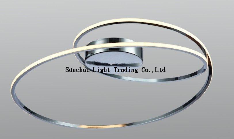 LED CEILING LAMP-CHROME CRELCENT LED