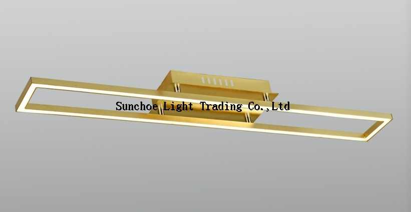 SQUARE LED SQUARE CEILING LAMP GOLDEN LEAF