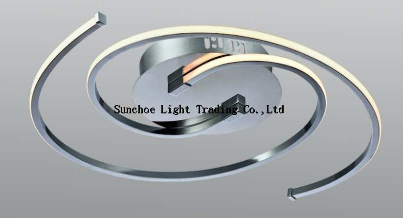led semicircle ceiling lamp chrome