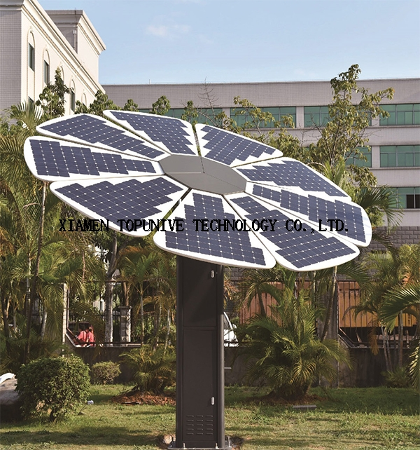 2KW SUNPOWER solar charging station with solar panels tracking system 2017 new solar product