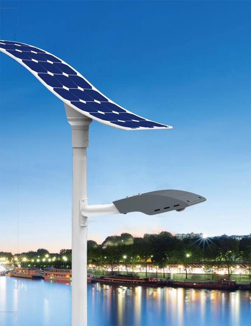 30w LED solar street light with flexible solar panel
