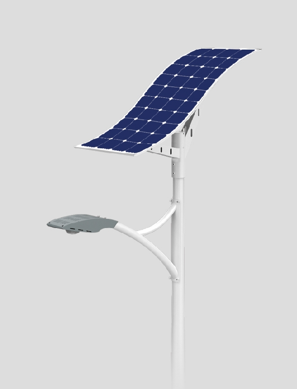40w LED solar street light with wave solar panel