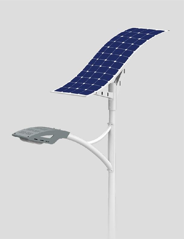 50w LED solar street light with flexible solar panel
