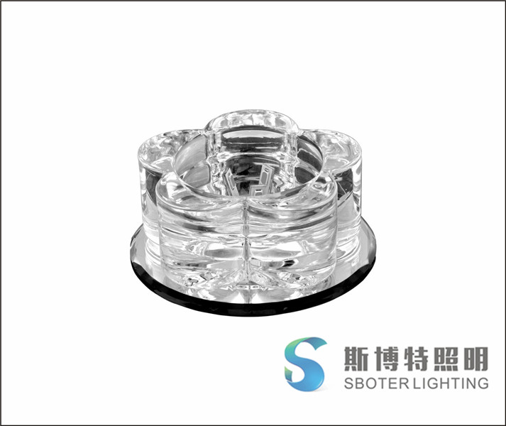crystal light with no lamps crystal spot light led downlight 3w