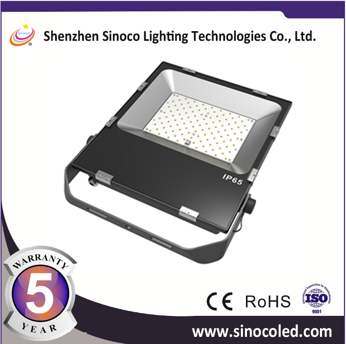 130LM PER WATT led flood light outdoor flood light 10w 20w 30w 50w 100W 200W slim body with 5 years