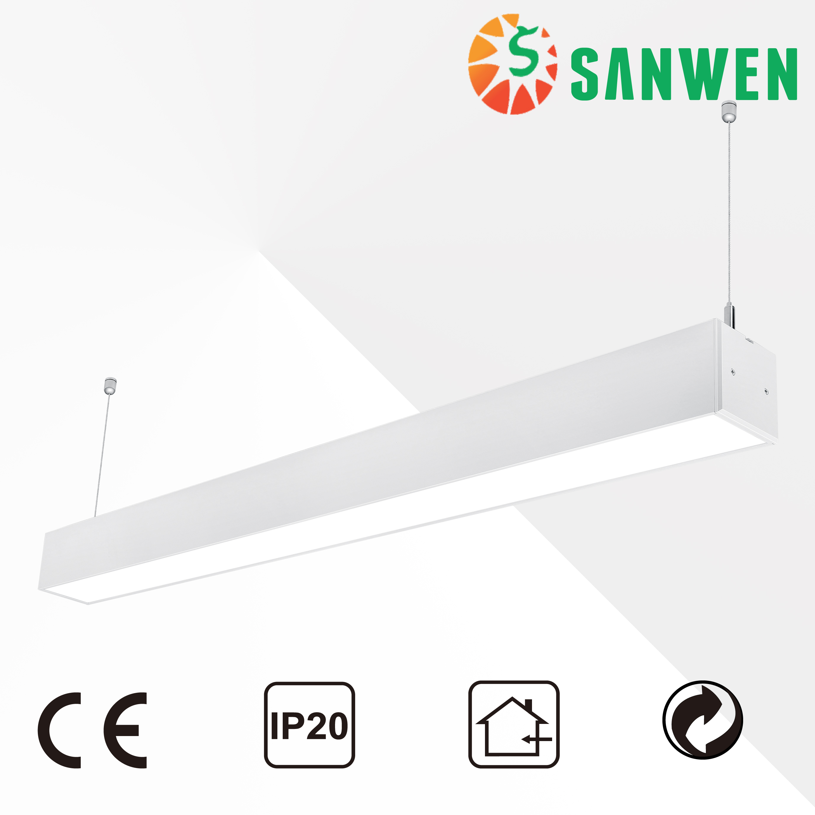 40W office warm white interior led linear light