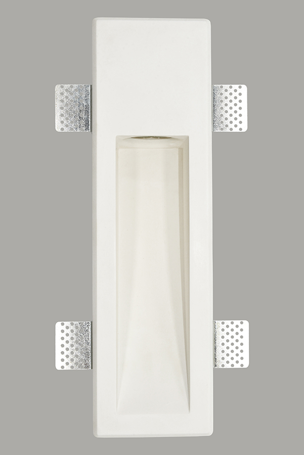 Hot sale plaster wall lamp natural material trimless gypsum light