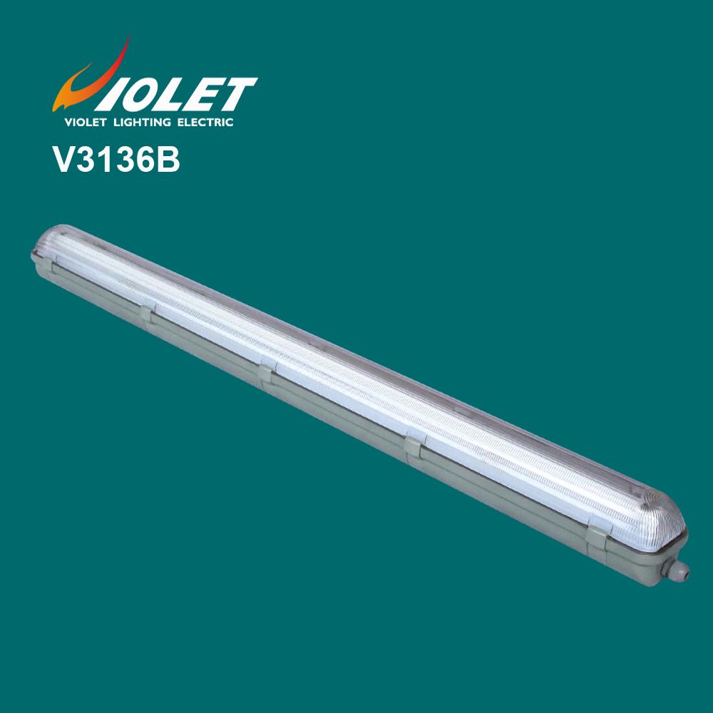 IP65 waterproof lighting fixture for 1x36w tube t8 fluoresent enclosure