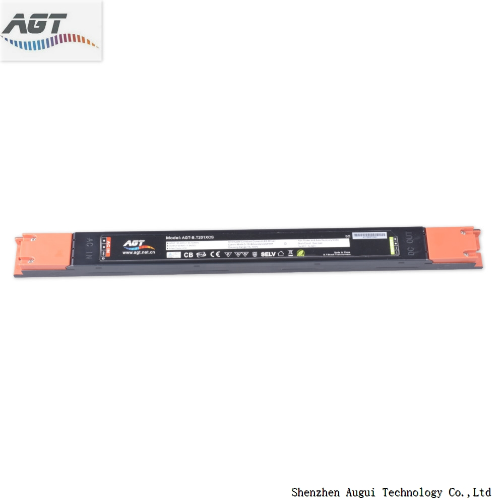 chinese supplier tuv saa approved no flicker dimmable linear light led driver power supply