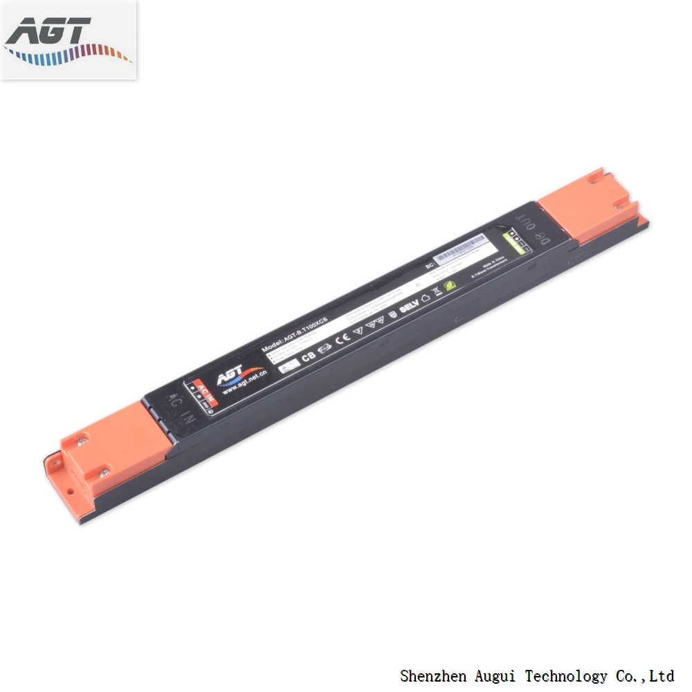TUV SAA Certified High Efficiency Power Supply Low THD 0-10V Dimmable Linear Led Driver