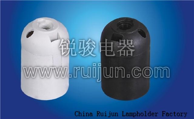 RUIJUN E27-S02 LAMP HOLDER SMOOTH SKIRT E27 LAMP HOLDER