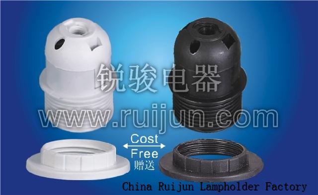 RUIJUN E27-S04 LAMP HOLDER SMOOTH SKIRT E27 LAMP HOLDER
