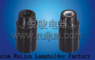 RUIJUN E14-D02 BKELITE SMOOTH SKIRT E14 LAMP HOLDER