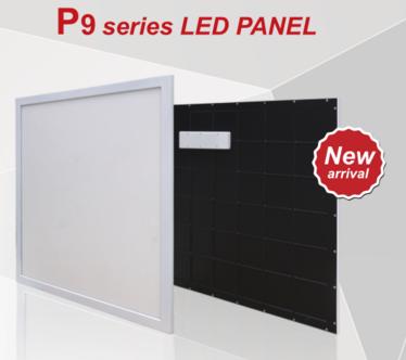 595x595mm P9 series plastic frame LED panel light 30W light weight CE ROHS ERP TUV EDGE-LIT