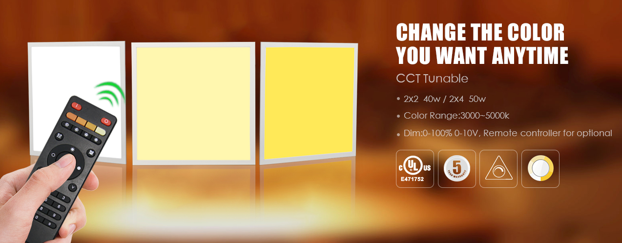 CCT and DIMMING LED panels remote control available 602x 602mm 40W 50W Aluminium frame CE FCC SAA UL